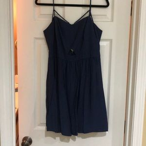 BCBG Generation Navy Triangle-peep dress